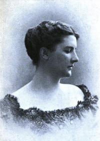 Portrait photograph of Elizabeth Jordan, 1901.