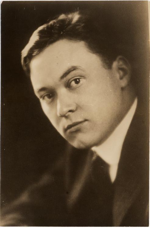 Portrait photograph of Walter Lippmann, 1914.