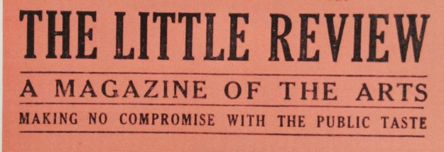 Cover banner, The Little Review.