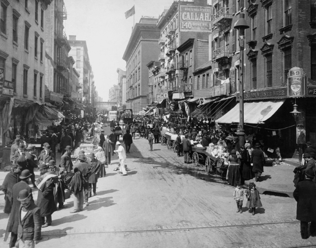 Lower East Side street, ca. 1910