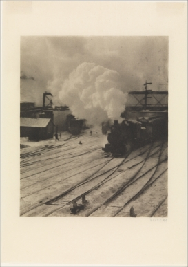 Alfred Stieglitz photograph of New York Central Yards, 1903.