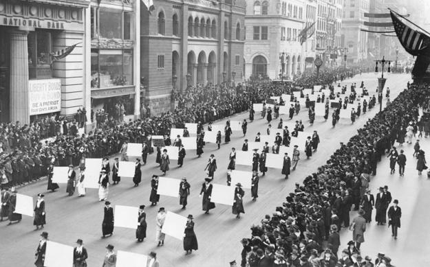Suffragist Parade, Fifth Avenue, 1917.