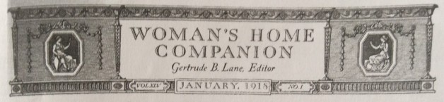Banner, Woman's Home Companion, January 1918.