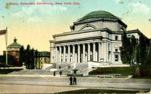 Postcard of Columbia University library, 1917.