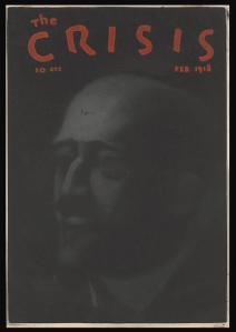 Crisis Magazine cover, February 1918, drawing of W.E.B. Du Bois.