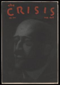 Crisis Magazine cover, February 1918, drawing of W.E.B. Du Bois.