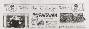Judge magazine banner, With the College Wits, February 9, 1918.