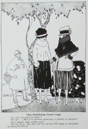 French cartoon in Judge magazine, That Bewildering Trench Lingo, 1918.