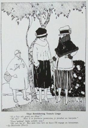 French cartoon in Judge magazine, That Bewildering Trench Lingo, 1918.