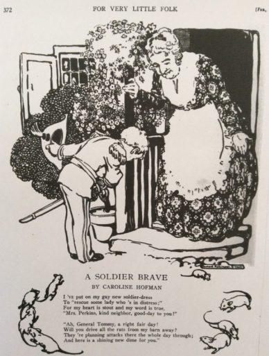 Poem, A Soldier Brave, St. Nicholas magazine, 1918.