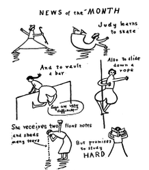 Daddy-Long-Legs illustration, News of the Month.
