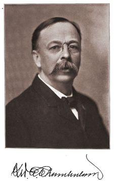 Photo portrait of Senator George Chamberlain, 1904.