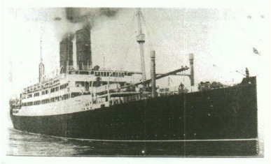Photograph of British ship SS Tuscania, 1914.
