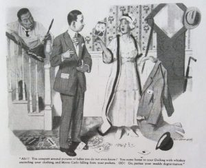 Illustration of story about Togo by Wallace Irving, Good Housekeeping, February 1918.