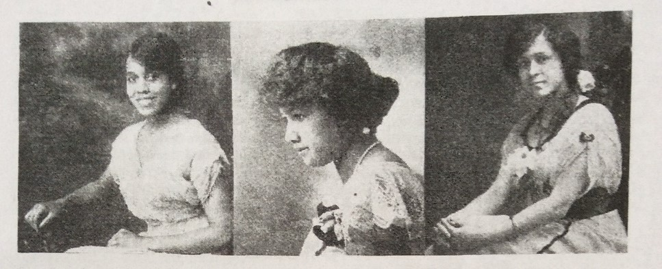 Three photographs of African-American women in The Crisis magazine, 1918.