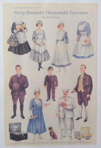 Paper doll servants, Ladies' Home Journal, 1918.