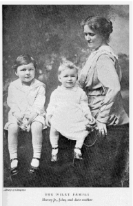Suffragist Anna Kelton Wiley with her sons.
