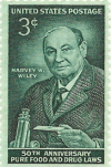 Commemorative stamp of FDA founder Harvey Wiley, 1956.