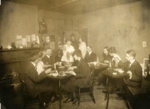 Bohemian gathering in Greenwich village, 1910s.