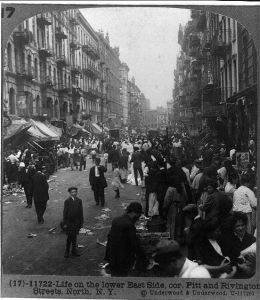 Lower East Side, New York, street scene, ca. 1915.