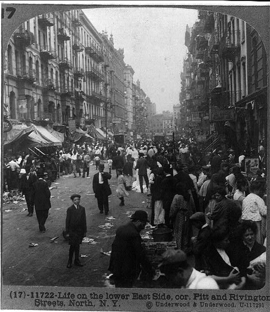Lower East Side, New York, street scene, ca. 1915.