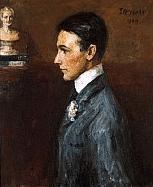 John Butler Yeats portrait of Van Wyck Brooks, 1909.