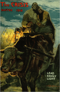 Crisis cover, April 1918, black couple on wagon going north.