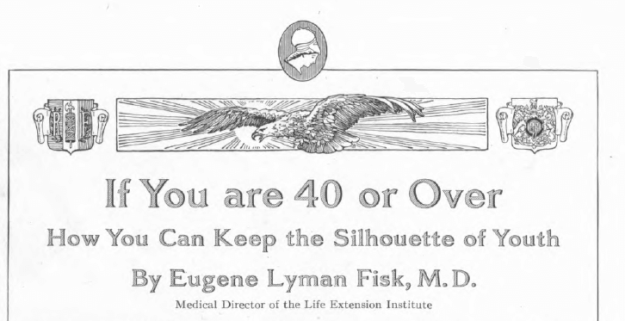 Headline of March 1918 Ladies' Home Journal article titled If You are 40 or Over, How You Can Keep the Silhouette of Youth