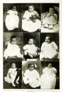 Photographs of nine babies in October 1918 issue of The Crisis.