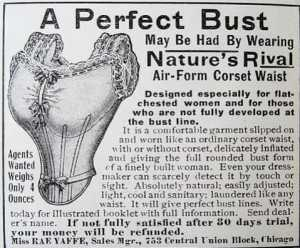 Advertisement for Nature's Rival bust enhancer, 1910