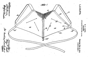 Brassiere patent drawing, Mary Phelps Jacob, 1914.