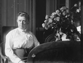 Photograph of Katharine Bement Davis , 1915.