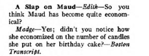 Joke called Slap on Maud, Judge magazine, 1918.