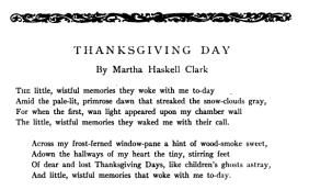 "Poem, ""Thanksgiving Day,"" 1916."