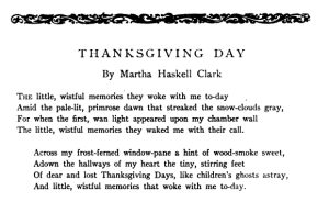 "Poem, ""Thanksgiving Day,"" 1916."