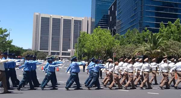 Marching band in Cape Town.