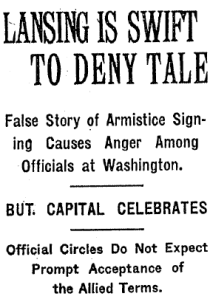 New York Times headline, Lansing is Swift to Deny Tale.