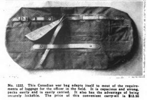 Canadian war bag, Vanity Fair, December 1918.