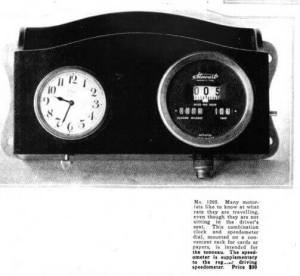 Clock and speedometer, Vanity Fair, December 1918.