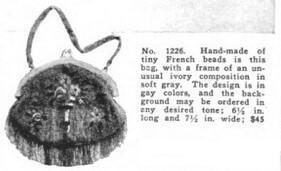 Beaded handbag, Vanity Fair, December 1918.