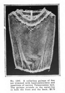 Lace guimpe shirt, Vanity Fair, December 1918.