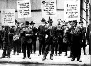 Eugenics supporters holding signs, 1915.