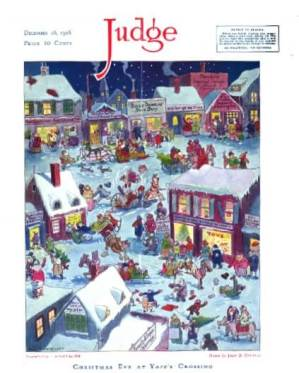 December 28, 1918 Johnny Gruelle Life cover titled Christmas Eve at Yapp's Crossing.