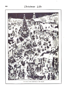 December 5, 1918 Harrison Cady Life illustration showing snowy village.