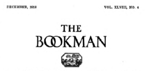 Front page header for The Bookman magazine, December 1918