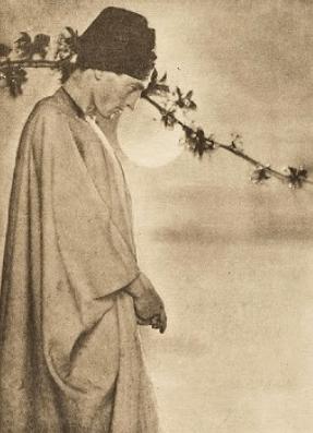 Photograph of poet George Sterling, Rubaiyat illustration, 1905.