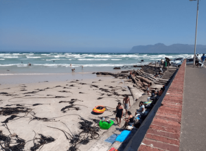 Photograph of beach in Muizenberg, Cape Town, South Africa.