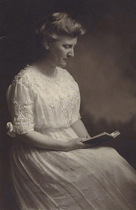 Photo portrait of Mary White Ovington, ca. 1910.