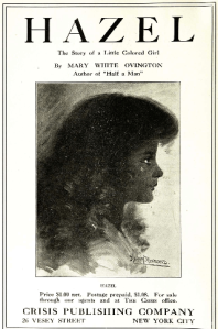 Advertisement in The Crisis for Hazel: The Story of a Little Colored Girl by Mary White Ovington, 1913.