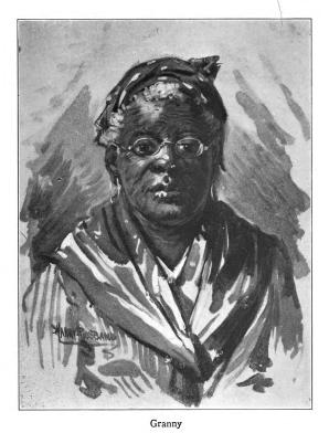 Illustration by Harry Roseland from Hazel by Mary White Ovington, subtitled Granny.